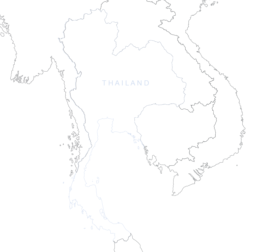 Map of Thailand and Surrounding Countries