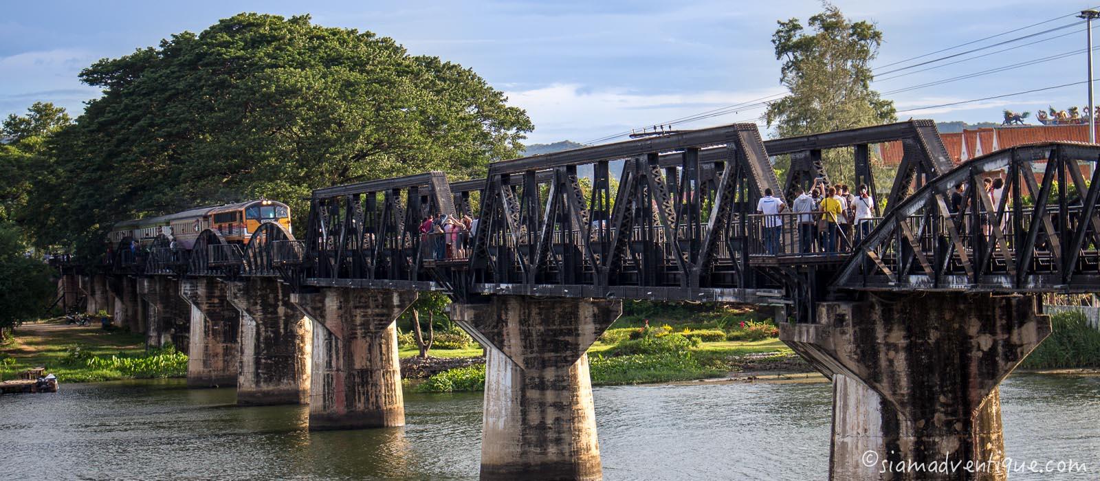 Bridge over the River Khwae in Kanchanaburi